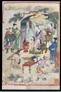 The Yellow Emperor transmits books to Léi Gōng, from Wellcomeimages.org